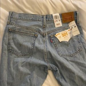 Levi's 501 Skinny Jeans. 29 Wasit and 30 Length